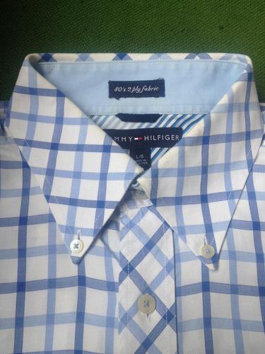 camisa tommy hilfiger talla l (amplia) $350