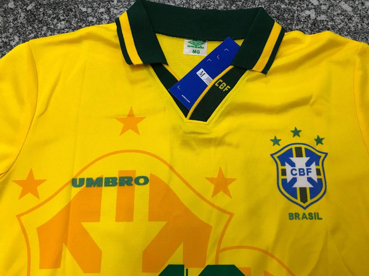 camisa torcedor seleção brasileira 94 mim acher 10 umbro pas. Carregando  zoom. 7623064a79626