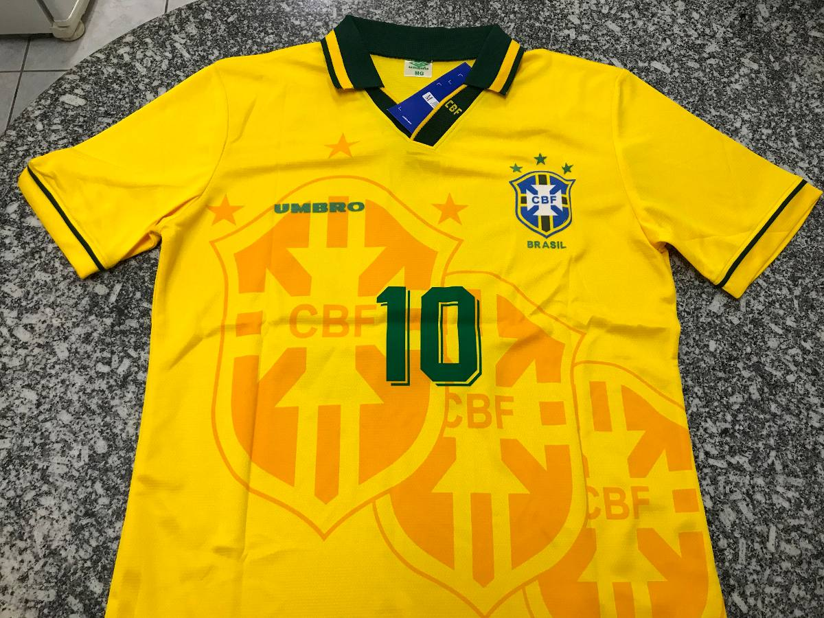 camisa torcedor seleção brasileira 94 mim acher 10 umbro pas. Carregando  zoom. e7d7140985045