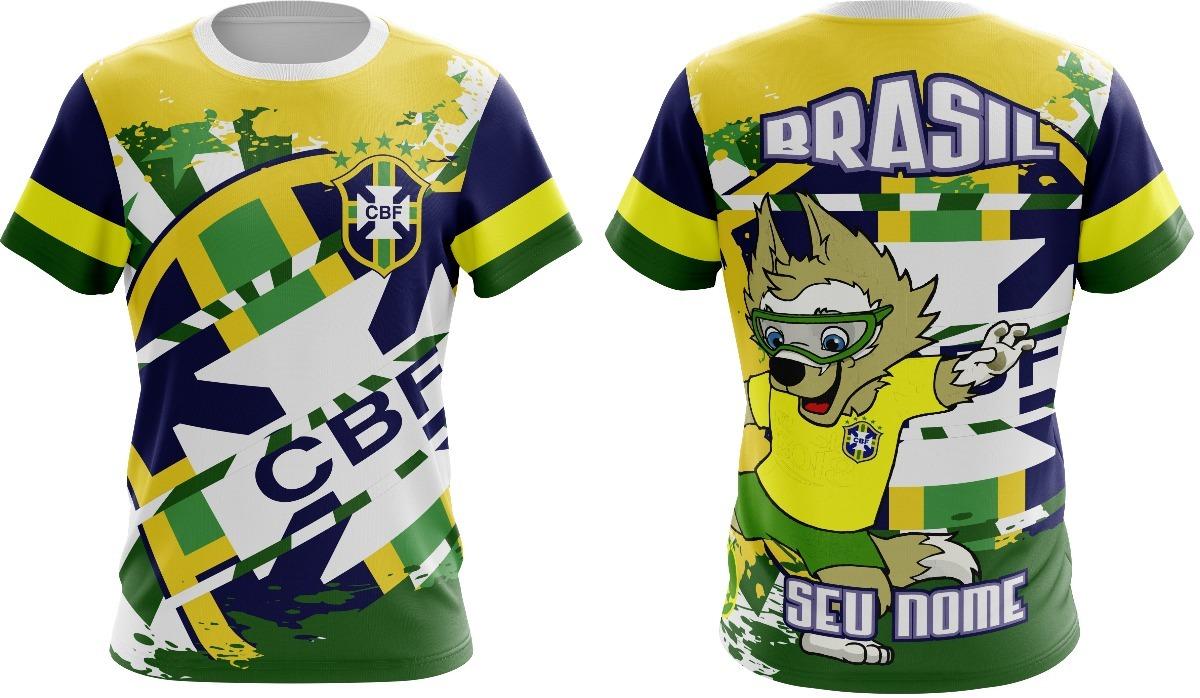 5b1766aaf Camisa Torcida Brasileira copa2018 mascote brasil nova - R  45
