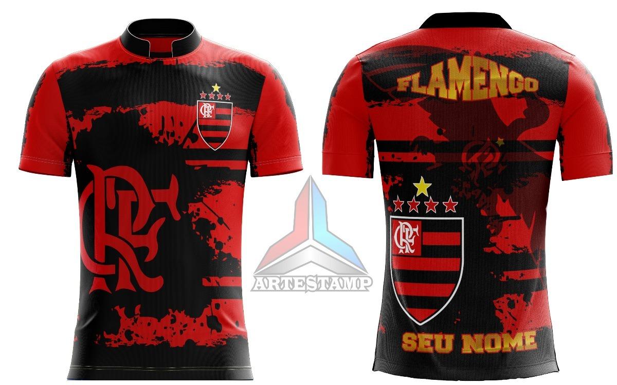 Camisa Torcida Flamengo rubro Negro mengão urubu - R  45 c43faf759d162