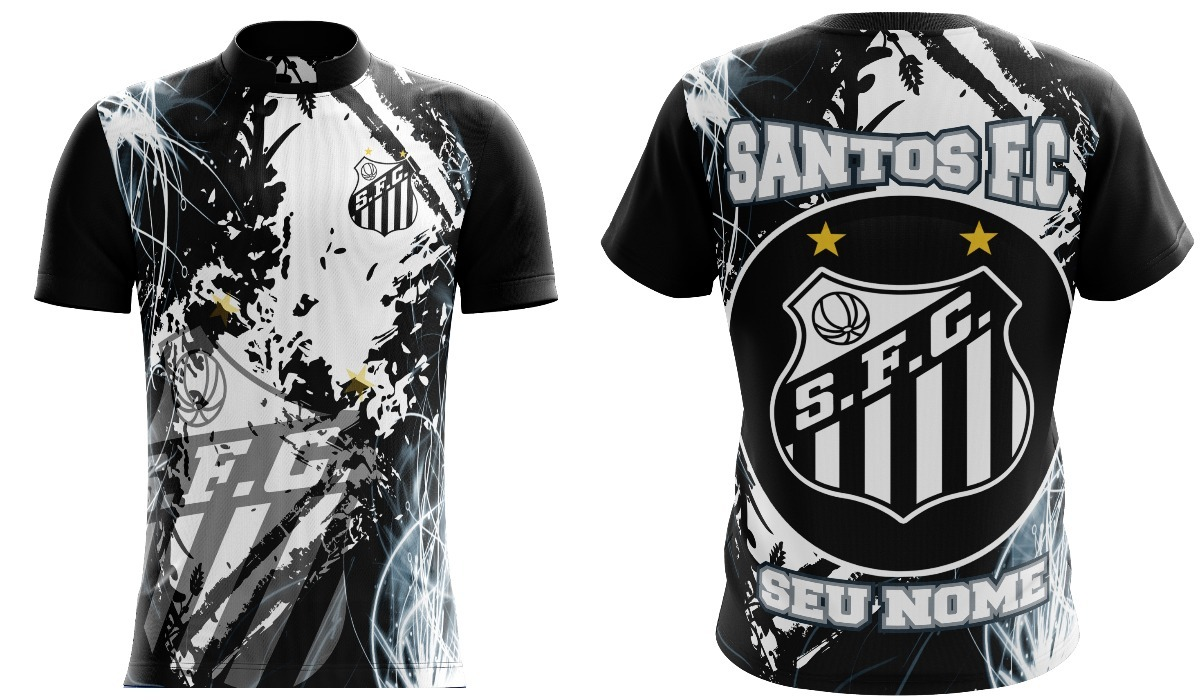 camisa torcida santos f.c peixe santista. Carregando zoom. bc9a77ef63769