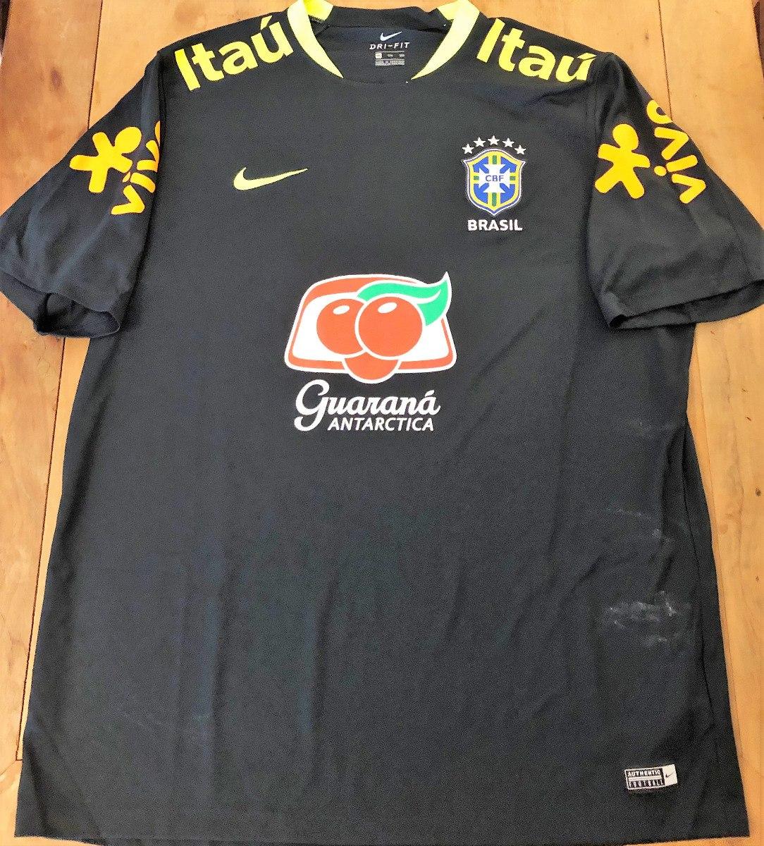 a41e767068aaf camisa treinos seleção brasileira exclusiva atletas preta. Carregando zoom.