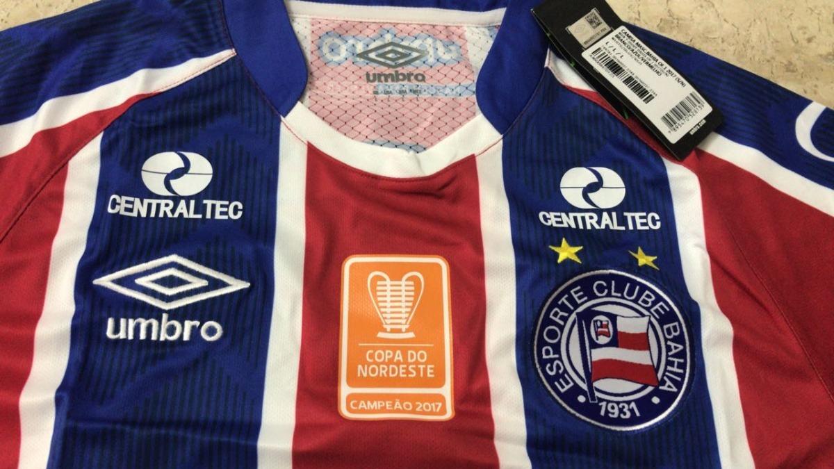 camisa umbro bahia ii 2017 patch campeão copa do nordeste. Carregando zoom. d0738e7c43fef