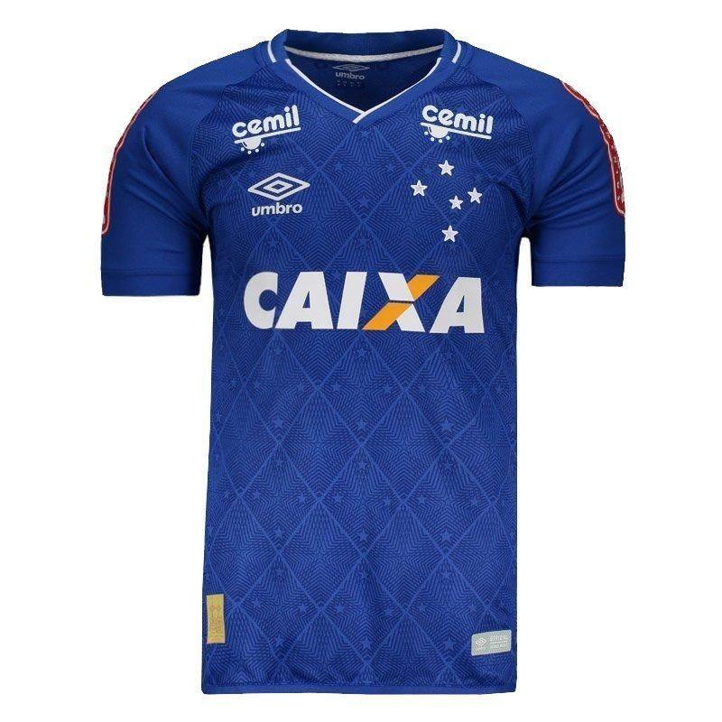 Camisa Umbro Cruzeiro I 2017 Jogador Com Patrocínio - R  129 260d4c28beb6b