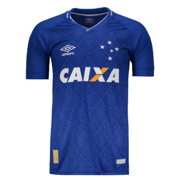 Camisa Umbro Cruzeiro I 2017 N° 10 - Lojas Pires - R  186 921908bd07a2c