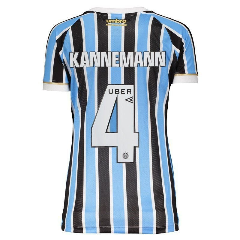 Camisa Umbro Grêmio I 2018 4 Kannemann Feminina - R  199 4583d6f99666b