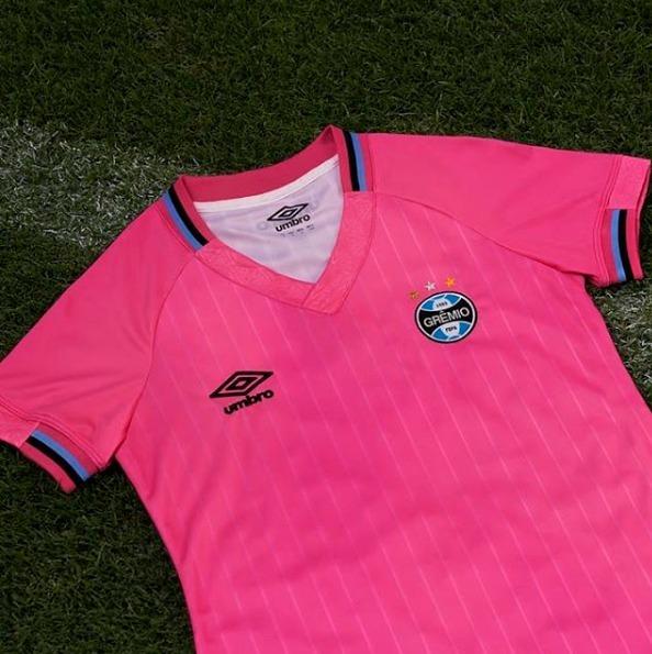 9754eeb6e Camisa Umbro Grêmio Outubro Rosa 2018 19 3g160687 - R  159
