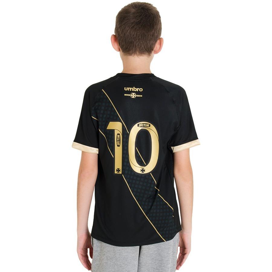 457d618fb9 camisa umbro vasco iii 2015 infantil   juvenil n° 10. Carregando zoom.