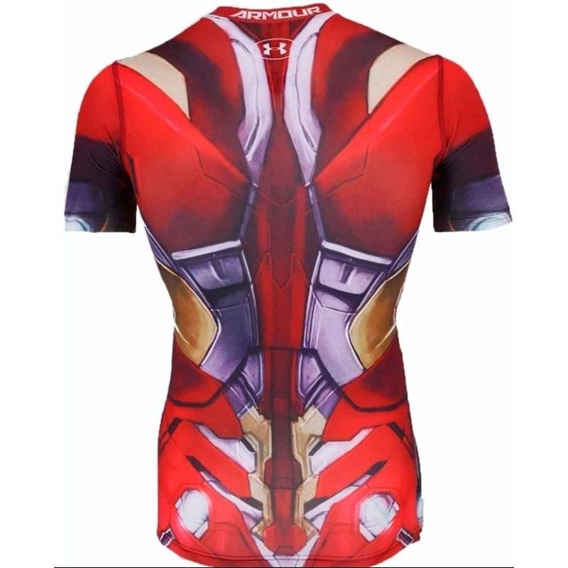 971ff50500ae4 camisa under armour compressão homem de ferro iron man. Carregando zoom.