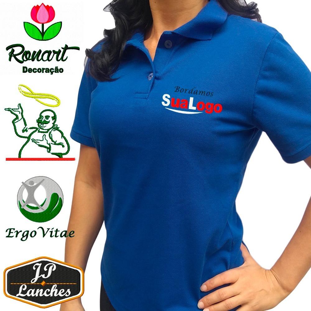b7c715839f Camisa Uniforme Com Sua Logo Bordada E Personalizada - R  35