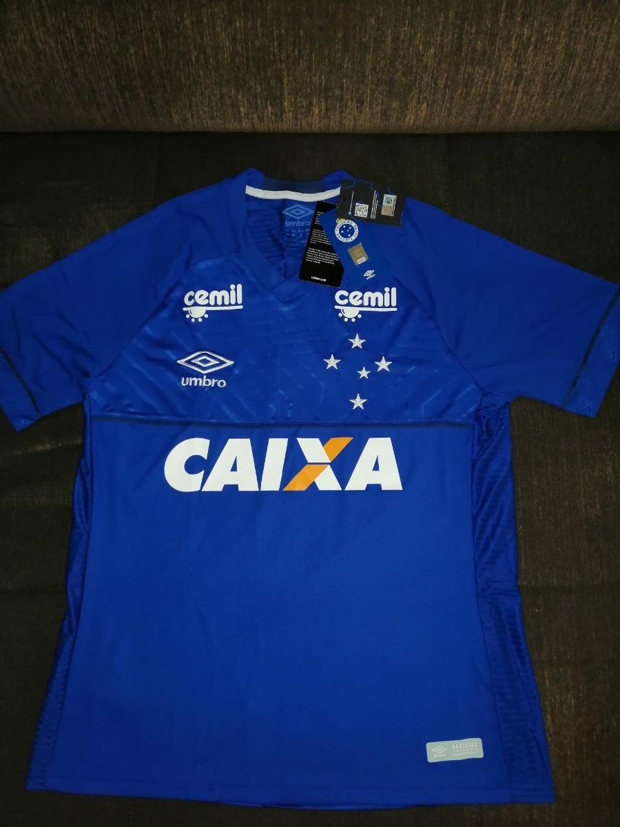 Camisa Uniforme Cruzeiro 2018 2019 Umbro Original Oficial - R  169 ... 6a1889894f1d8
