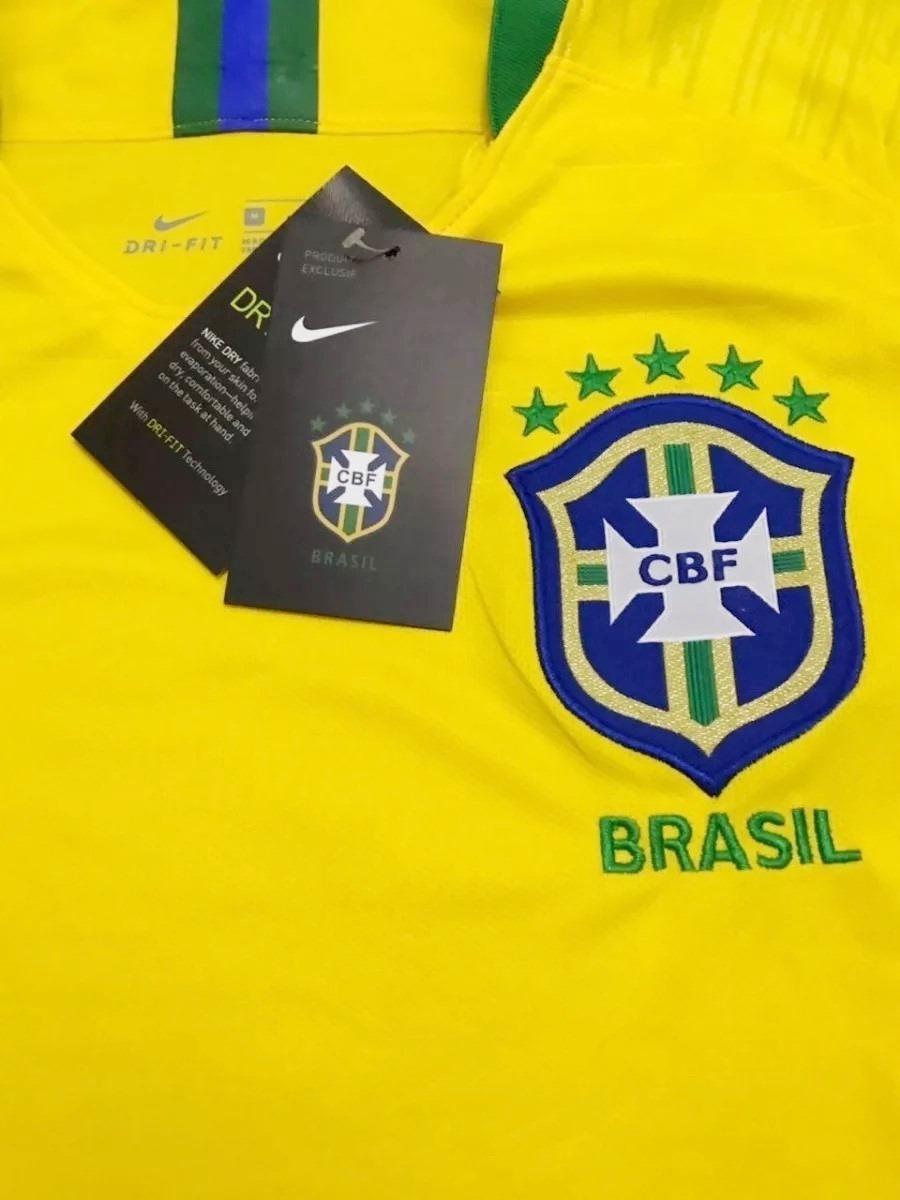 camisa uniforme da seleção brasil cbf copa russia promoç. Carregando zoom. 8c5d4826d61e9