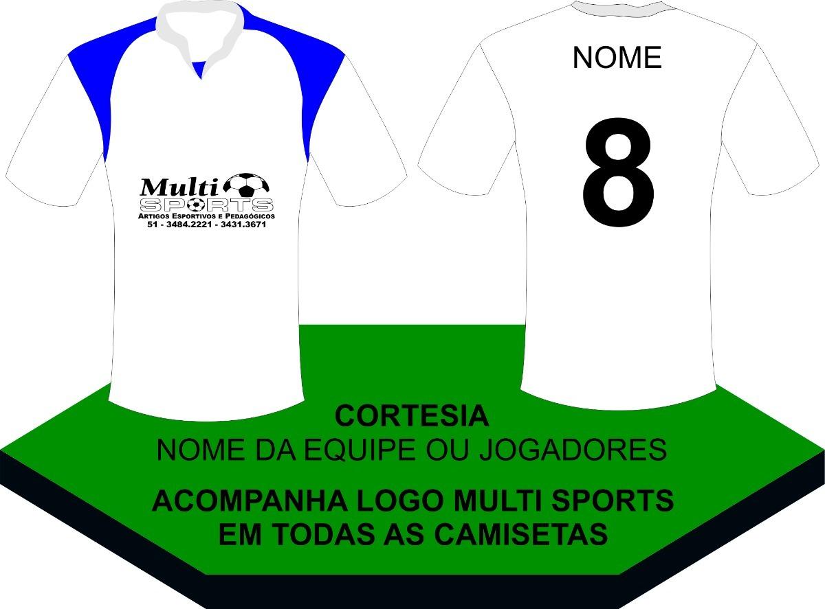 bbd8269d4c298 camisa uniforme futebol (unidade)  mín. 8 pçs   branco azul. Carregando  zoom.