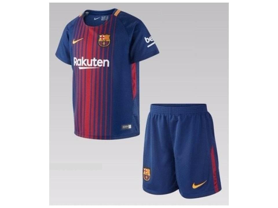 camisa uniforme kit infantil barcelona nike original 2017 18. Carregando  zoom. 0349123912f