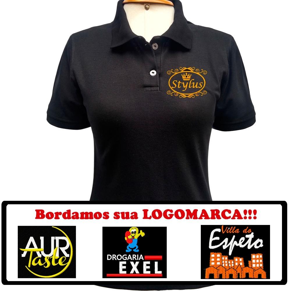 camisa uniforme personalizada bordado logomarca empresa. Carregando zoom. 3c8242bcd12be