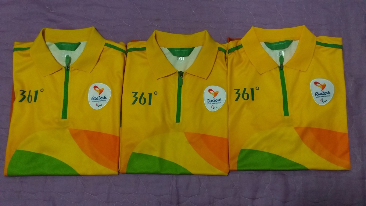 1e779b5ece194 camisa uniforme voluntários paralimpíadas rio 2016. Carregando zoom.