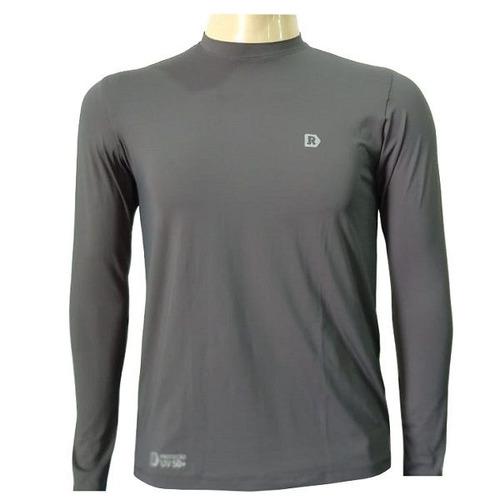 camisa uv50 rove ciclismo praia manga longa chumbo