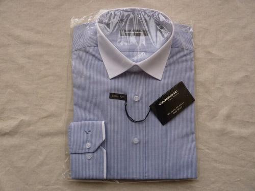 camisa vandine manga larga slim fit