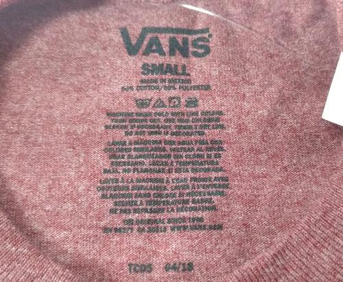 camisa vans masculina vinho detalhe cinza