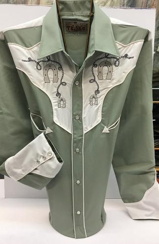 camisa vaquera bufalo tejas