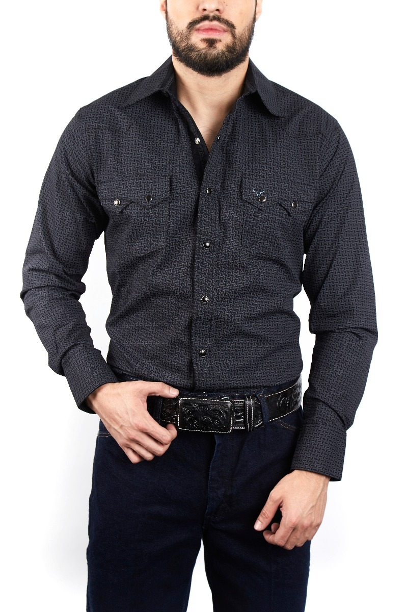 8e10d332fddfd Camisa Vaquera Caballero Rodeo Carte Negro 24303181 -   599.00 en ...