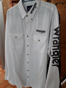 058d598fa5 Camisa Vaquera O Rodeo Marca Wrangler Talla L Manga Larga