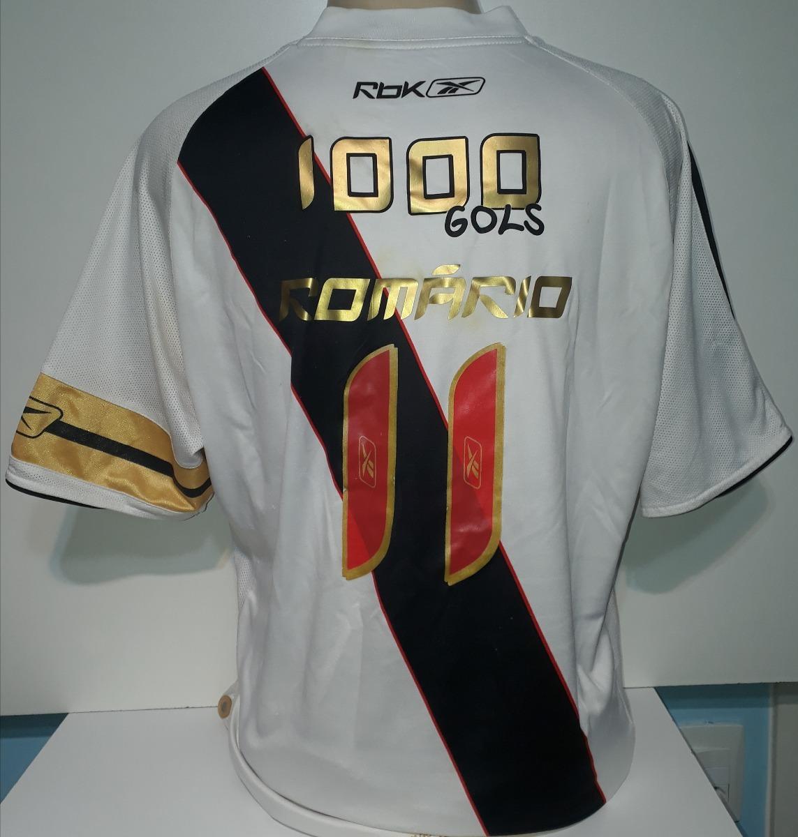 bc5447de3d Camisa Vasco 1000 Gols Do Romário 2007 Original Reebok - 98 - R  549 ...