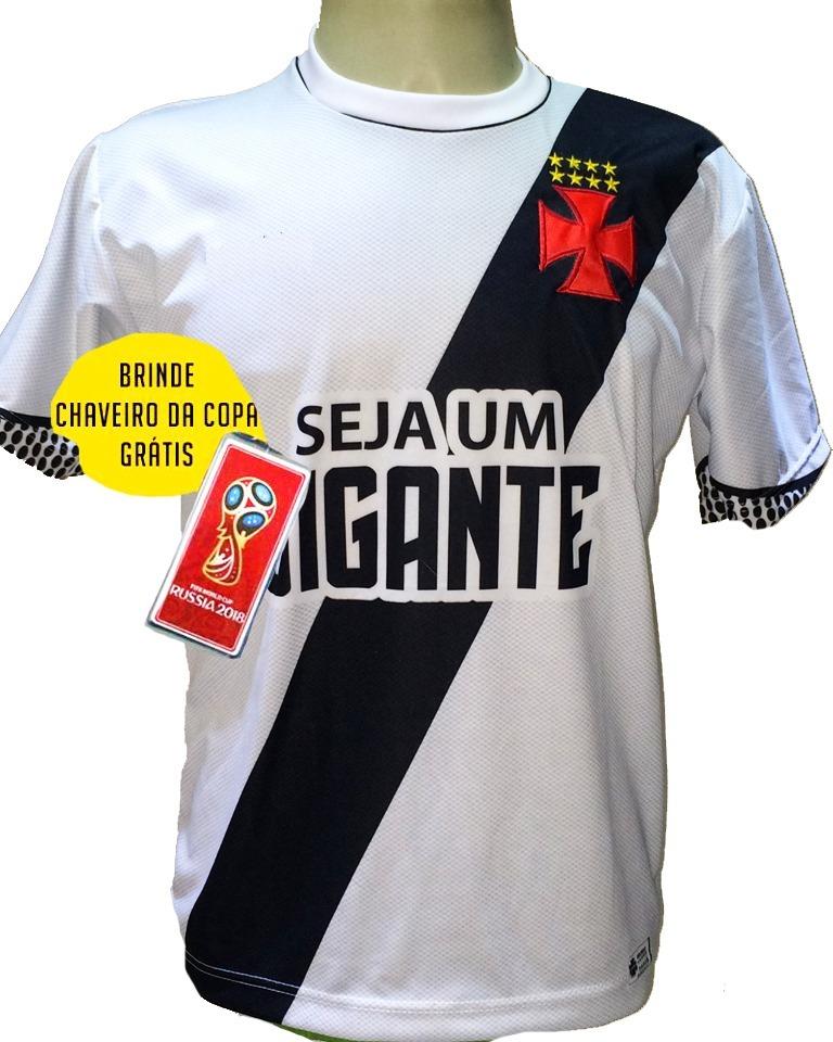 Camisa Vasco Branca Nova 2018 2019 Socio Torcedor Vasco - R  29 7500f78a024cb