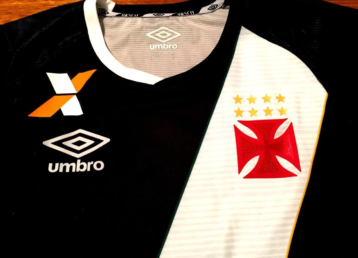 57390b58a85a1 Camisa Vasco Brasileirão 2016 De Jogo Preta  7 - R  349
