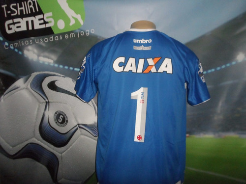 Camisa Vasco Azul Usada Pelo Martin Silva No Brasileiro 2017 - R ... b0e0657c31027
