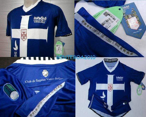 4490e4d21b Camisa Vasco Cavalera Templaria Azul 3 Oficial Penalty 2012 - R  169 ...