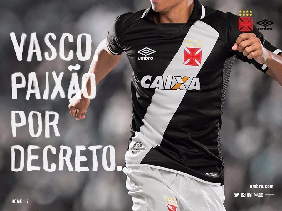 0a3baa581393e Camisa Vasco Da Gama 1- Umbro - Oficial - 2017 18 - Original - R ...