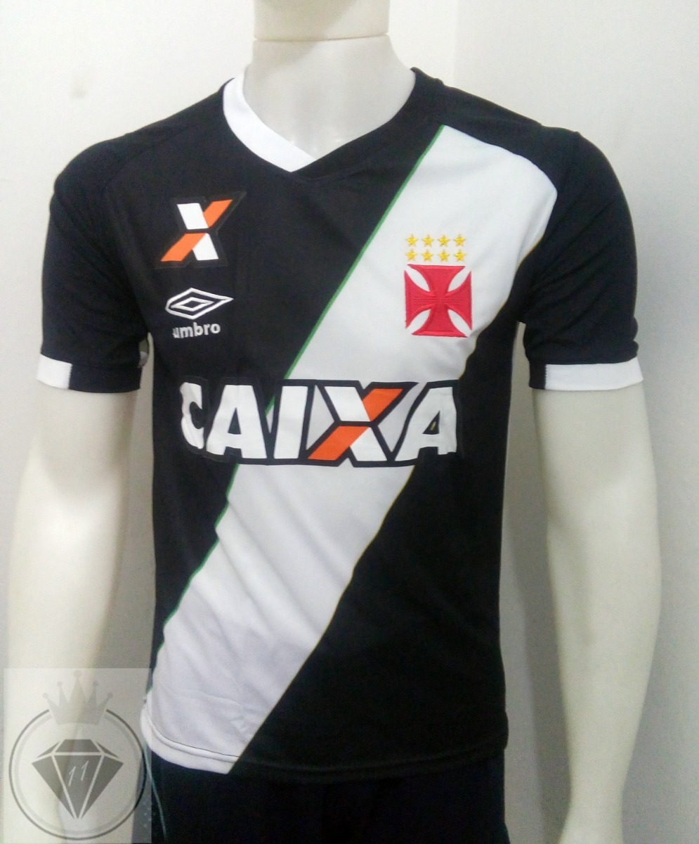 Camisa Vasco Da Gama 2016 -17 Preta Supporter Torcedor - R  65 e1df6079893a8