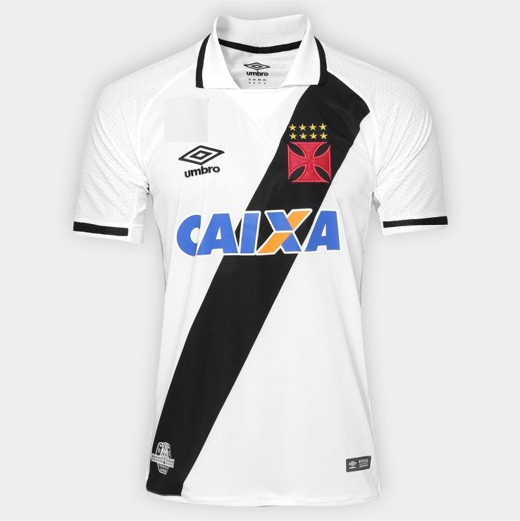 fc2436a20cd5a Camisa Vasco Da Gama Branco Frete Gratis Uniforme 2017 2018 - R  89 ...