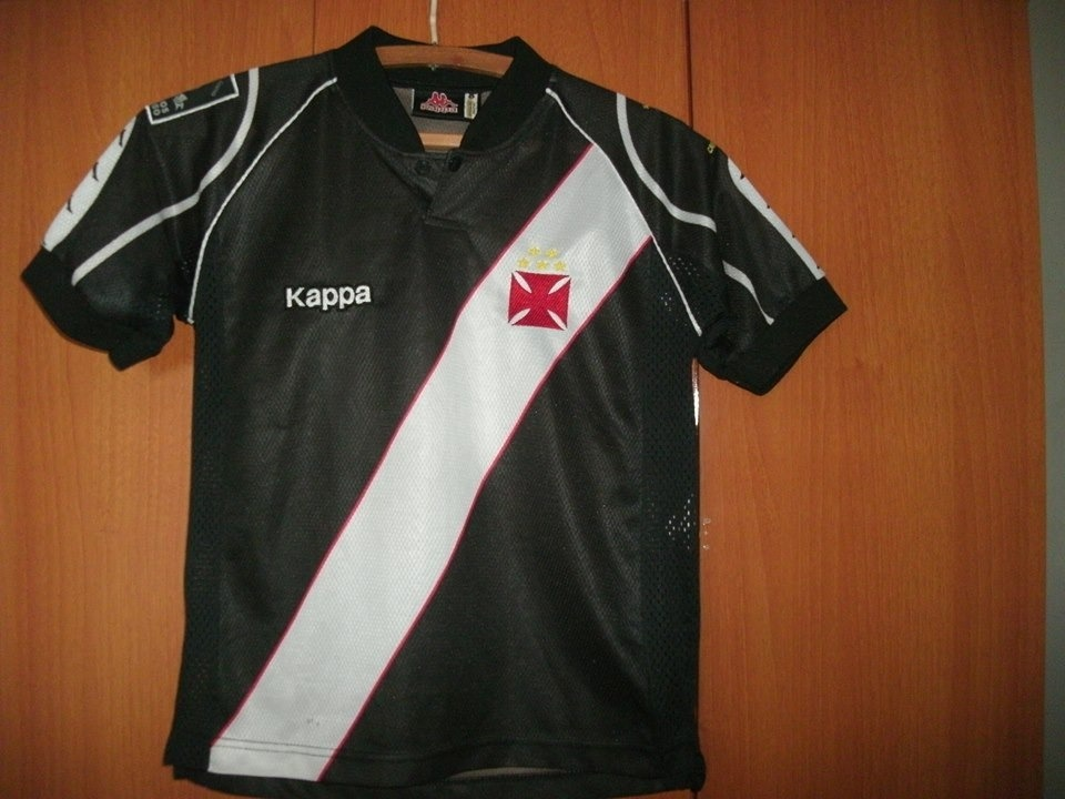 Camisa Vasco Da Gama ( Kappa   Preta   Infantil ) - R  140 1497daa2064fa