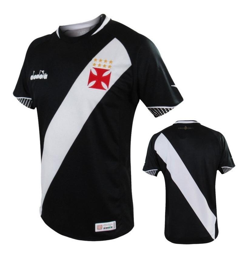 3e43654e7d Camisa Vasco Diadora 2018 Oficial 1 Preta - R$ 249,90 em Mercado Livre