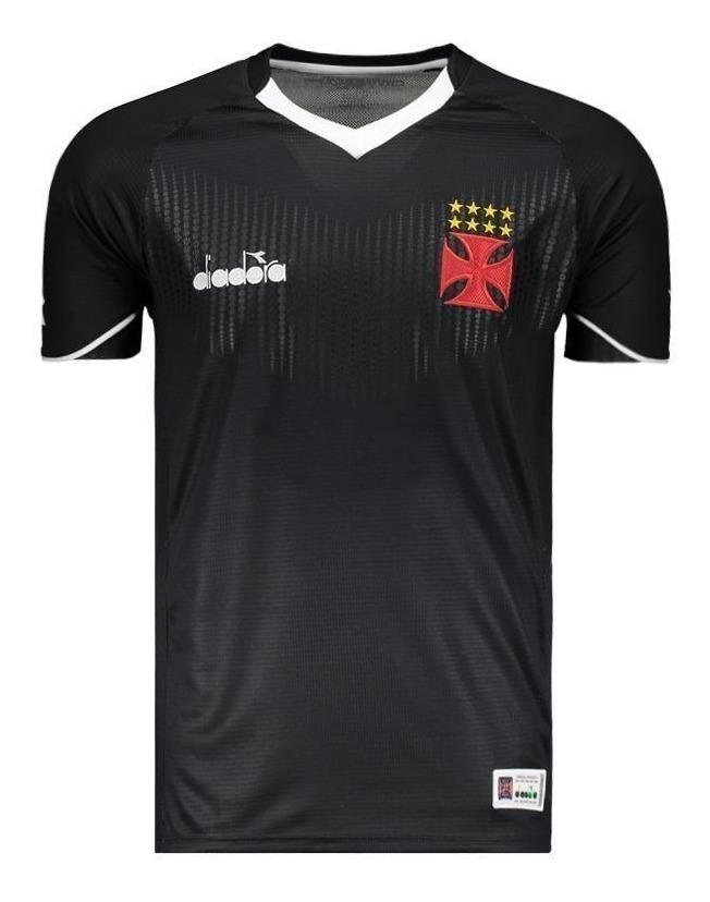 4592be07880f9 camisa vasco game goleiro diadora oficial preta 2018 2019. Carregando zoom.