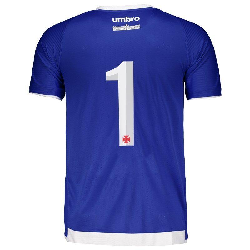 24715bf7b0 camisa vasco goleiro oficial umbro azul royal 2017   2018. Carregando zoom.