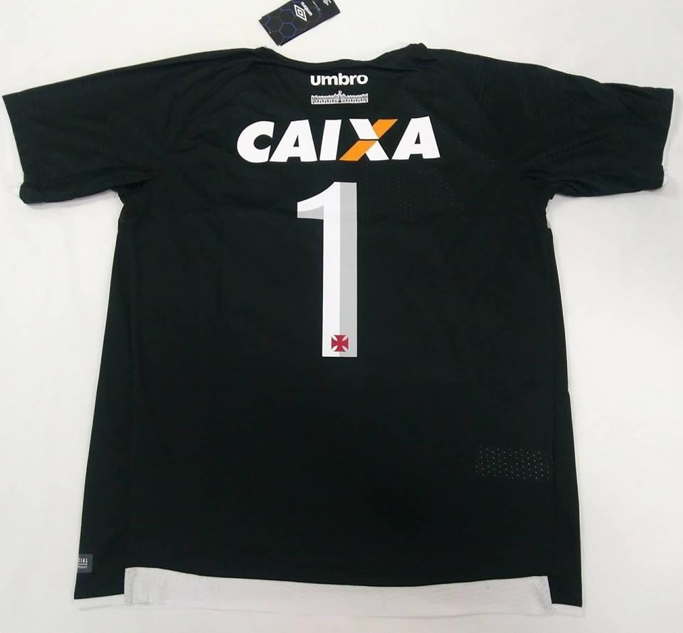 4d769db029 camisa vasco goleiro oficial umbro preta 2017 2018 n°1 nova. Carregando  zoom.
