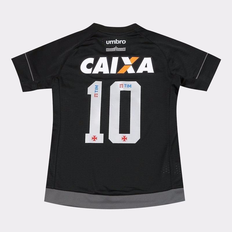 camisa vasco juvenil iii 17 18 n°10 - umbro - preto e grafit. Carregando  zoom. 91503e9fe3801