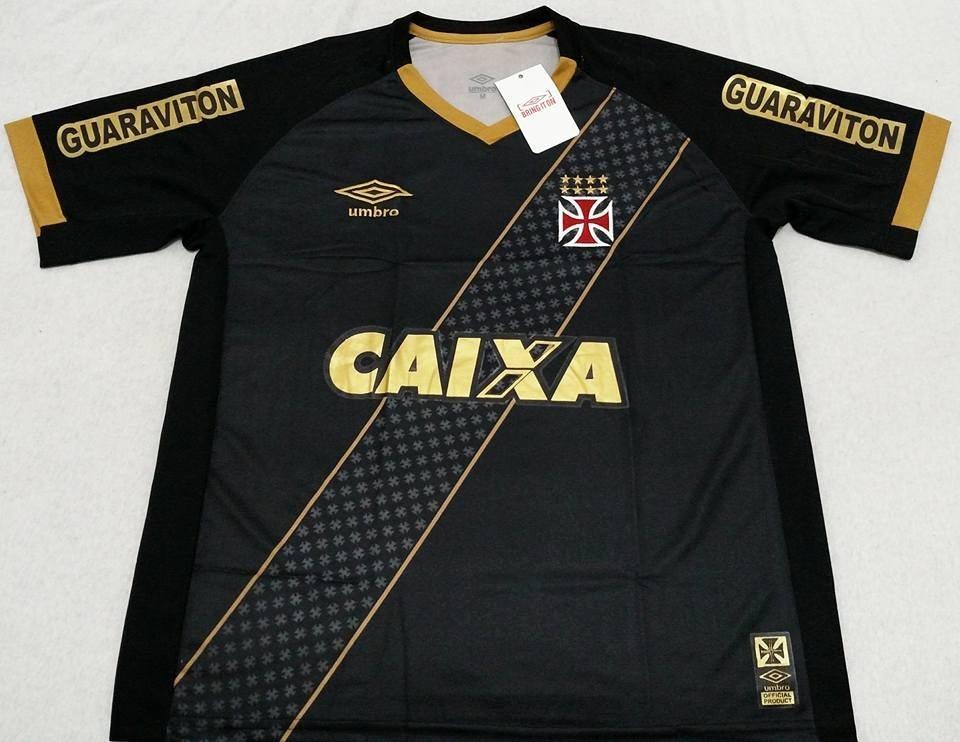 ba274ae0616a0 camisa vasco preto com dourado 2015. Carregando zoom.