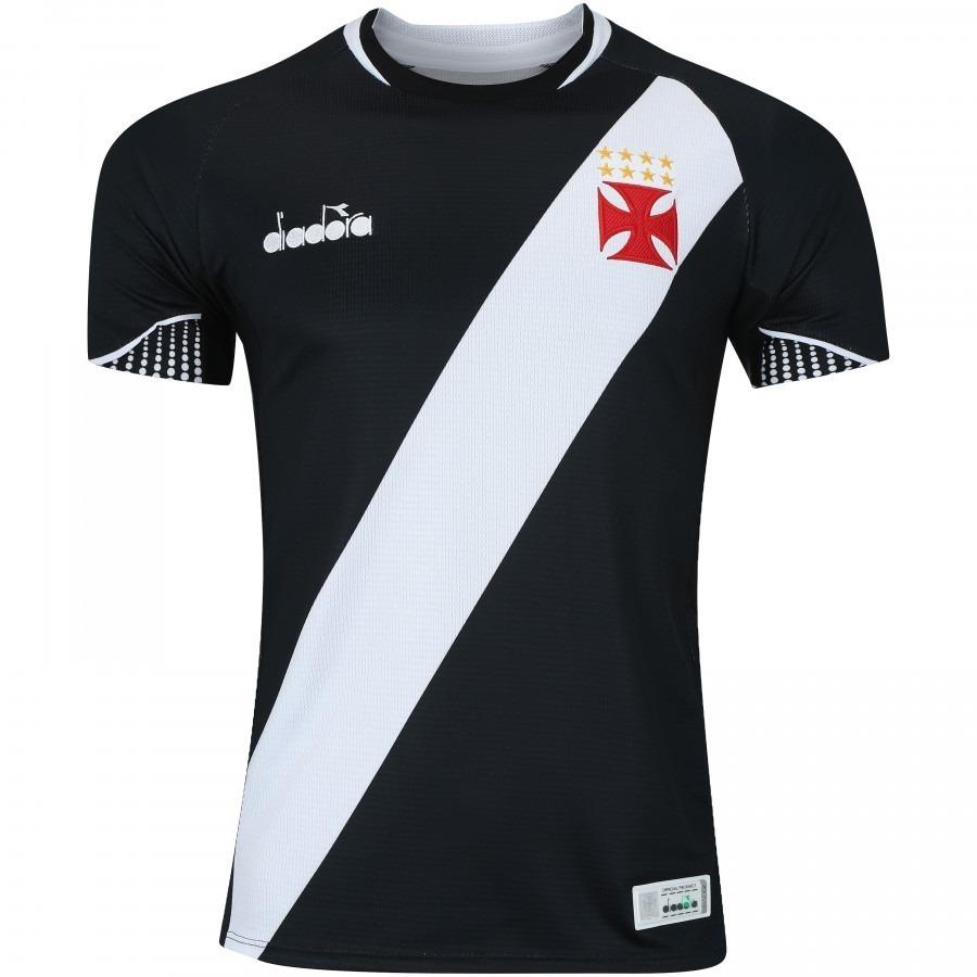 Camisa Do Vasco Original Preta Branca Nova Lançamento Time - R  135 ... e6992b63bead0