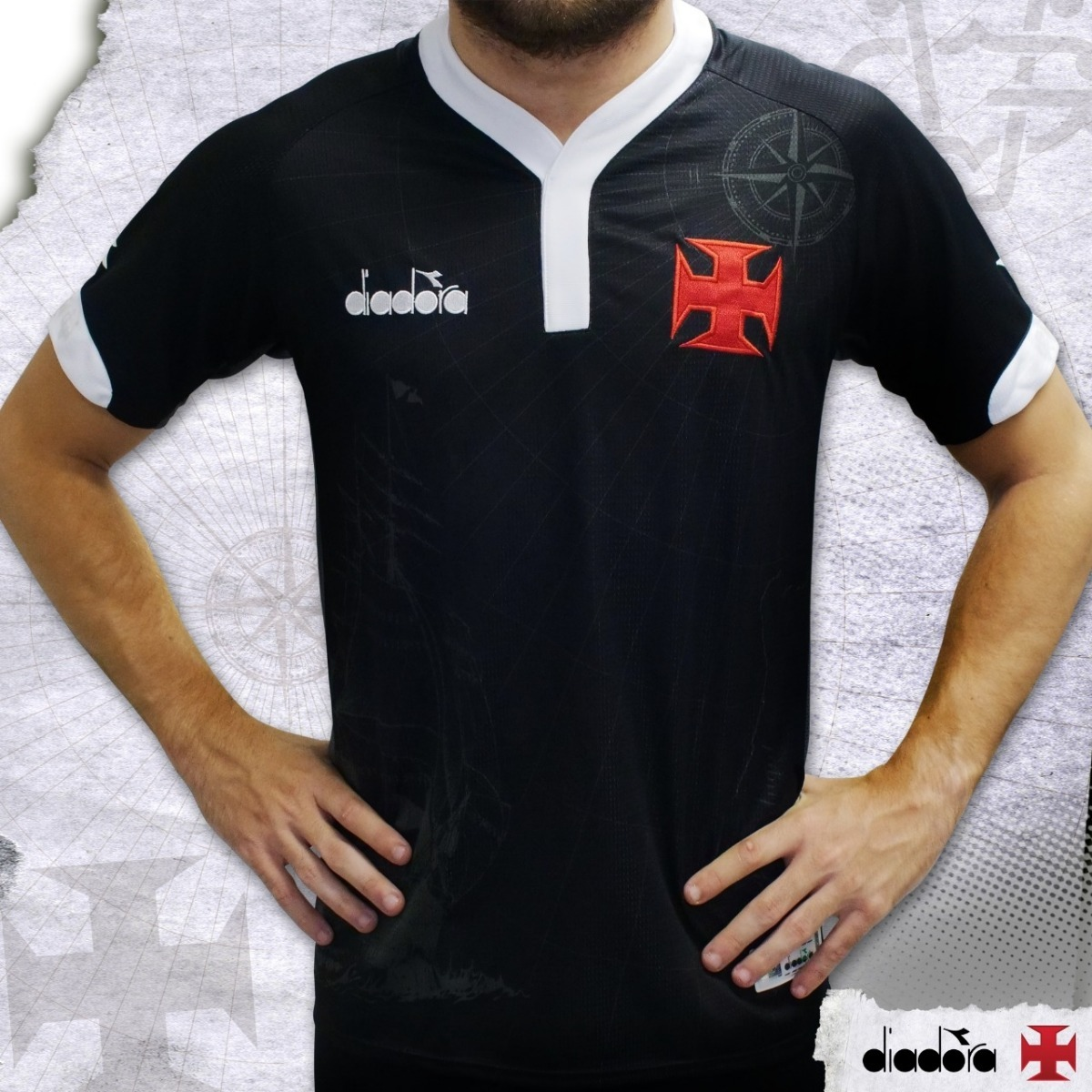 880f2e2e84 Camisa Vasco Uniforme Iii 120 Anos Diadora Tam Ggg - R$ 150,00 em ...