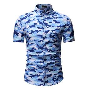 c85518c9b8 Camisa Estampado Floral Hombre - Ropa y Accesorios en Mercado Libre ...