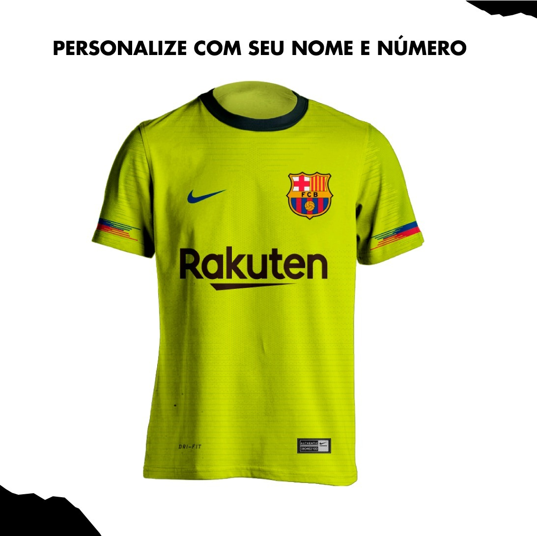 camisa verde barcelona reserva away 2019 personalizada nova. Carregando  zoom. 6daab2a2dcb88