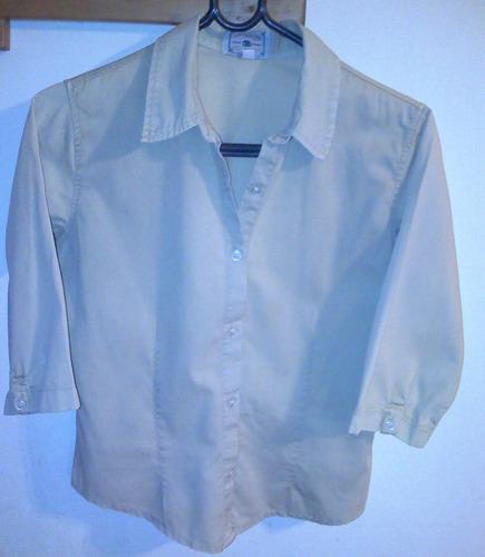 camisa verde clarito dama  manga 3/4 tamaño small