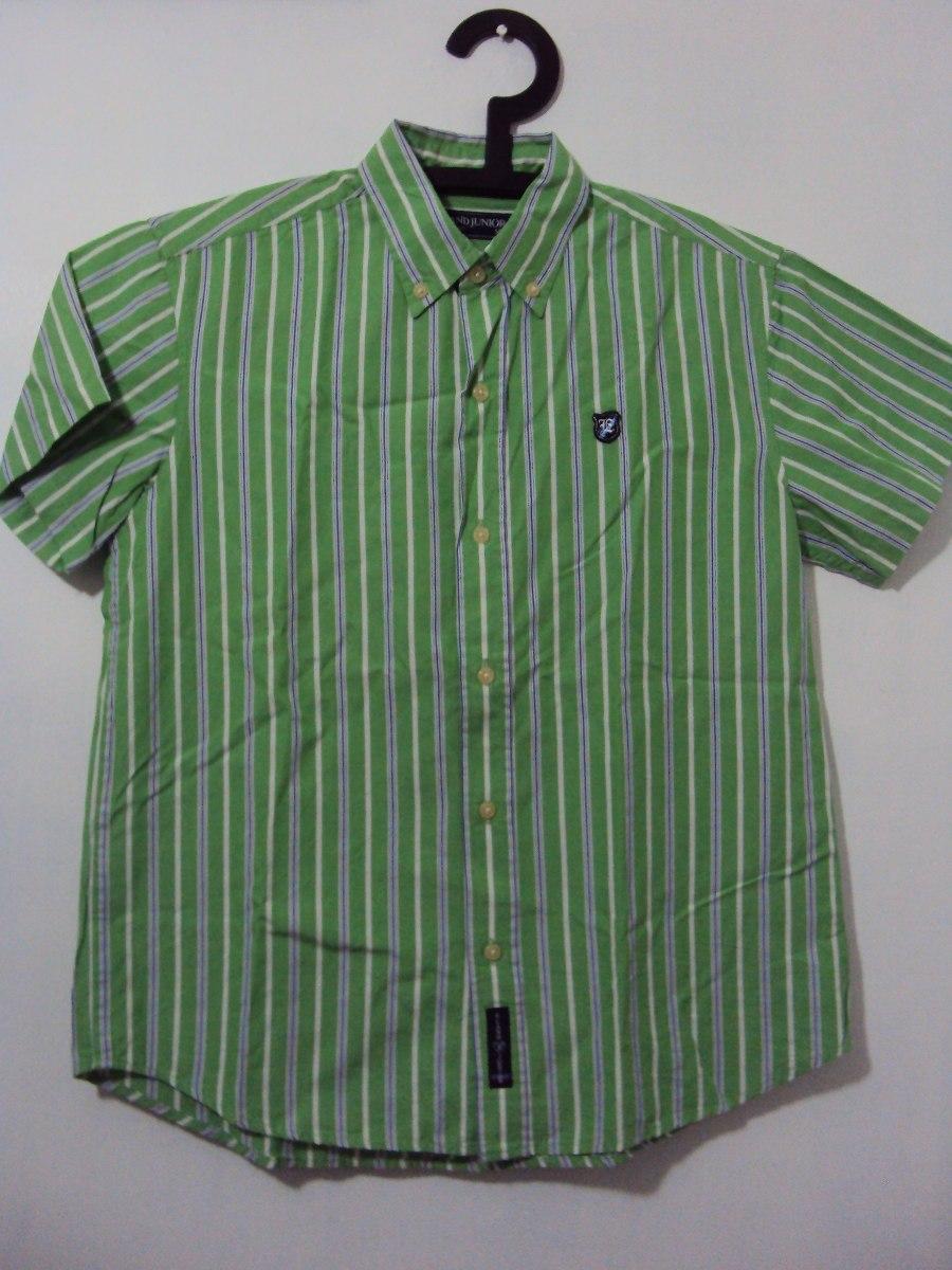 212c563a9f0d8 camisa verde com listras azul. Carregando zoom.