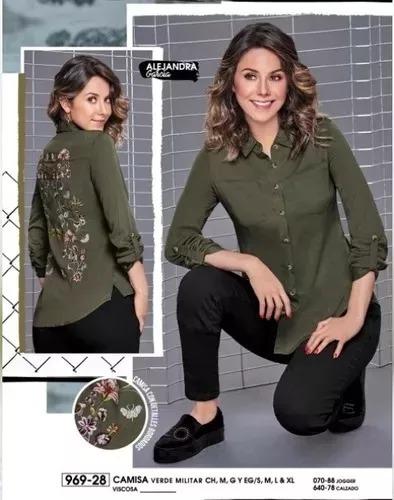 9dc38e6b9927 Camisa Verde Militar Ml C/bordado Cklass 969-28 Oto/inv 18