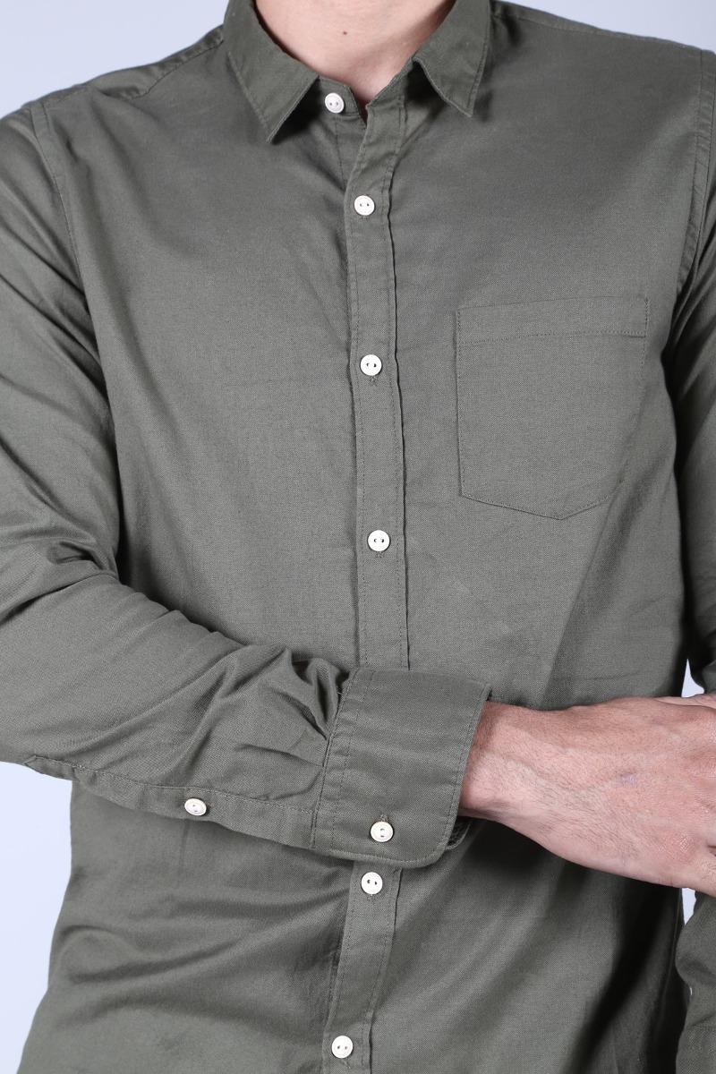 6810f1bc00a0f Camisa Verde Militar Tennis -   89.900 en Mercado Libre
